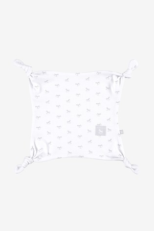 The Little Tailor White All Over Print Rocking Horse Jersey Comforter