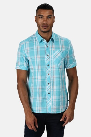 Regatta Blue Deakin III Short Sleeve Shirt