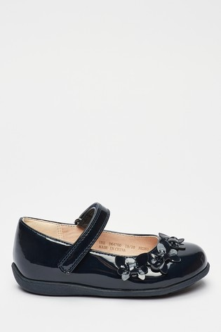 Navy Patent Butterfly Mary Jane Shoes (Younger)
