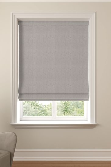Reeve Putty Grey Made To Measure Roman Blind