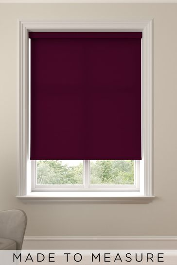 Asher Blackcurrant Purple Made To Measure Light Filtering Roller Blind
