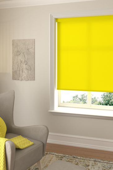 Asher Canary Yellow Made To Measure Light Filtering Roller Blind