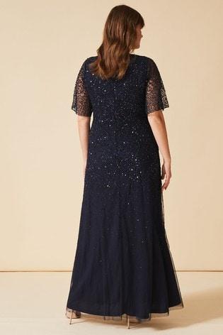 Studio 8 Navy Nancy Beaded Dress