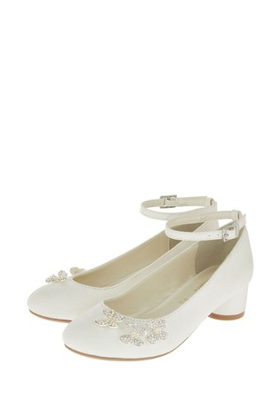 Monsoon Ivory Maria Pearl Butterfly Shoes