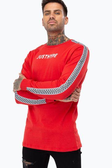 Hype. Checker Tape Men's Long Sleeve T-Shirt