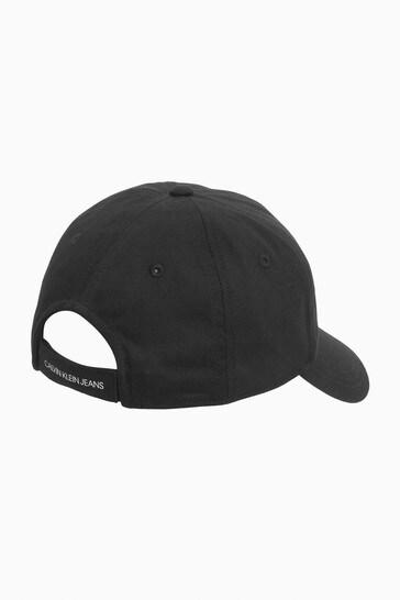 Calvin Klein Jeans Black Monogram Baseball Cap