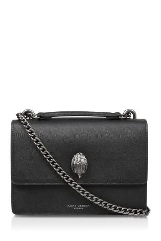 Kurt Geiger London Black Shoreditch Leather Cross Body Bag