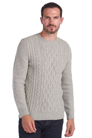 Barbour® Chunky Cable Crew Neck Jumper