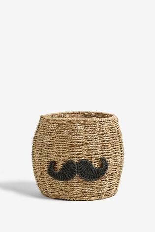 Moustache Storage Basket