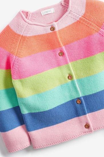 Multi Fluro Rainbow Stripe Cardigan (3mths-7yrs)