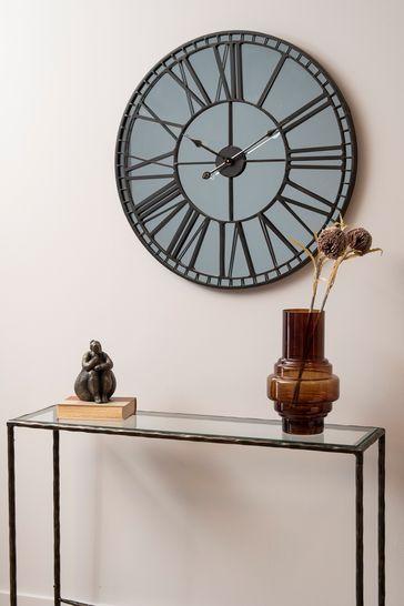 Libra Skeleton Mirror Wall Clock