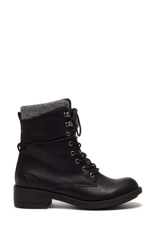 Rocket Dog Black Tayte Lace-Up Boots