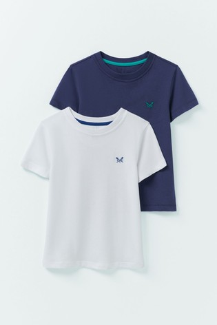 Crew Clothing Blue Classic Fit T-Shirts Two Pack