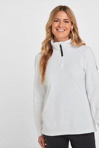 Tog 24 White Shire Womens Fleece Zip Neck Top
