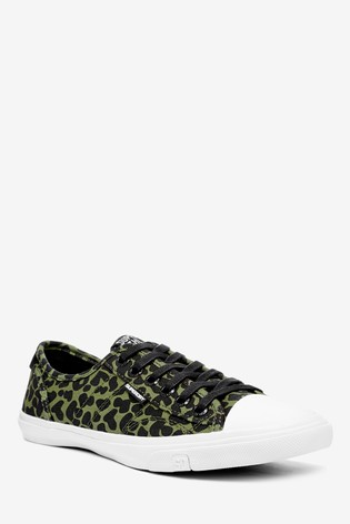 Superdry Olive Leopard Low Pro Trainers