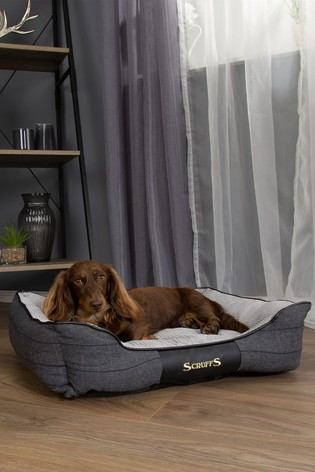 Washable Medium Breed Windsor Tweed Dog Bed by Scruffs®