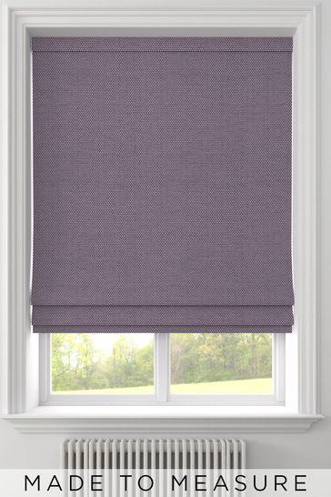 Craven Aubergine Purple Made To Measure Roman Blind