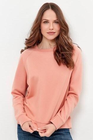 M&Co Pink Crew Neck Raglan Sweatshirt