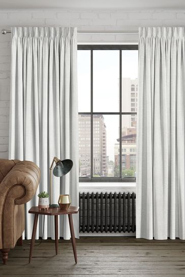Natural/Platinum Reeve Made To Measure Curtains