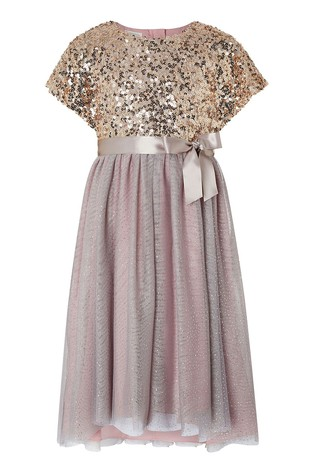 Monsoon Truth Cape Sequin Maxi Dress
