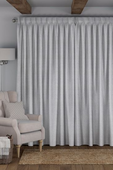 Reeve Slate Grey Made To Measure Curtains