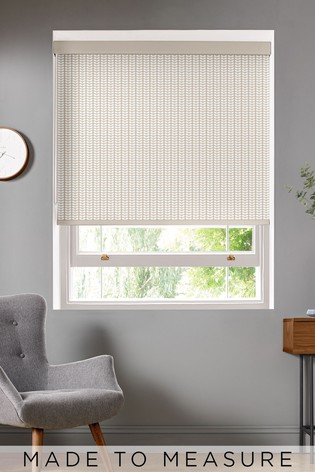 Tiny Stem Taupe Natural Made To Measure Roller Blind by Orla Kiely