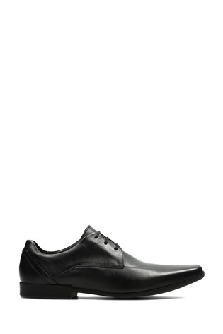 Clarks Black Leather Glement Over Shoes