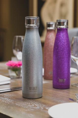Built Perfect Seal Glitter Drinks Bottle 500ml