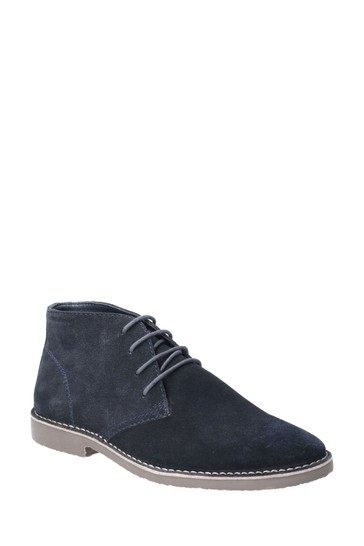 Hush Puppies Blue Freddie Lace-Up Shoes