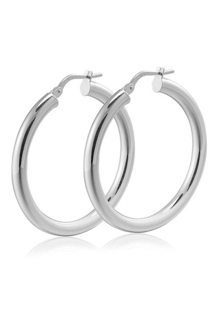 Beaverbrooks Silver Hoop Earrings