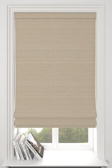 Oyster Natural Jasper Made To Measure Roman Blind