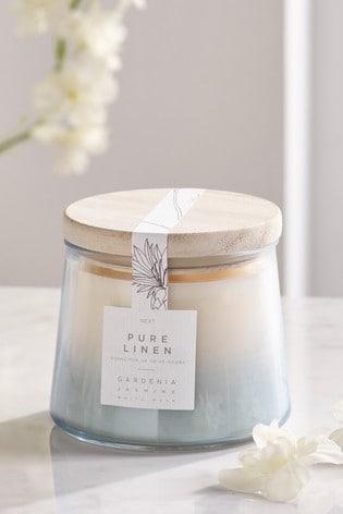 Linen Lidded Jar Candle