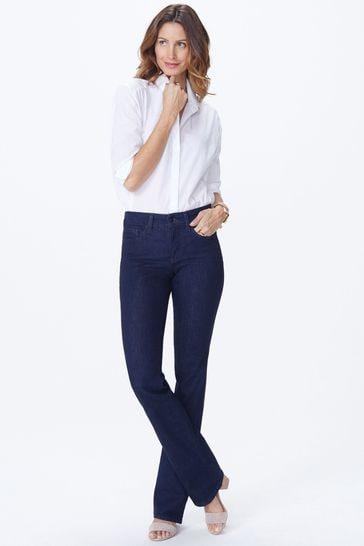 NYDJ Dark Blue Denim Barbara Boot Cut Jeans