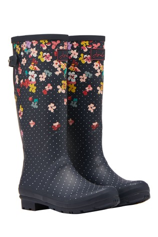 Joules Blue Welly Print with Adjustable Back Gusset