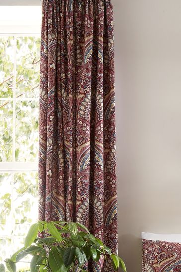 D&D Palais Damask Pencil Pleat Curtains