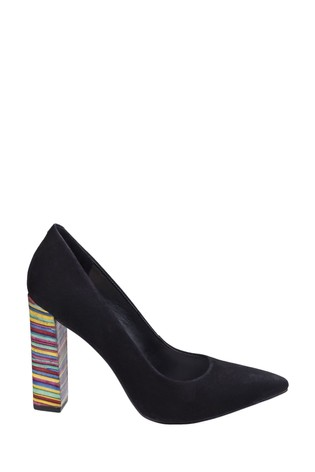 Riva Black Granita Suede Leather On Court Shoes