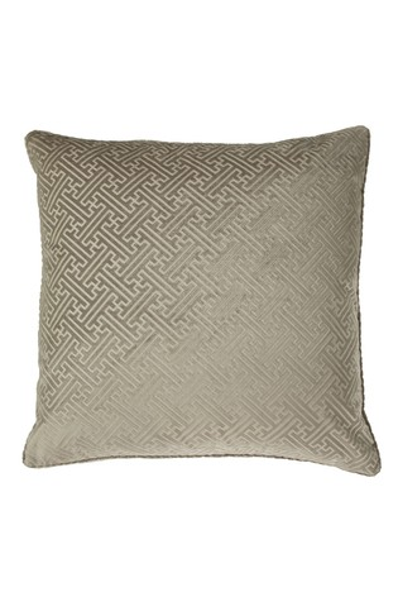 Riva Home Florence Embossed Geo Luxe Velvet Cushion