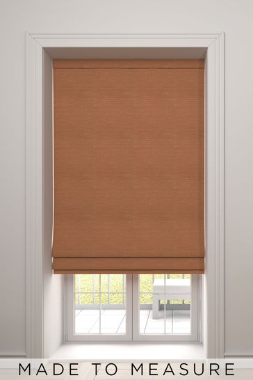 Jasper Rust Orange Made To Measure Roman Blind
