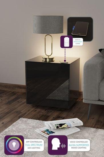 Frank Olsen Smart LED Black Lamp Table