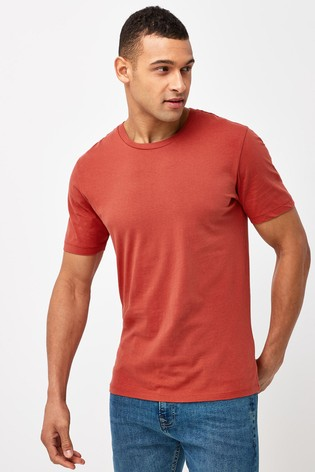 Brick Slim Fit Crew Neck T-Shirt