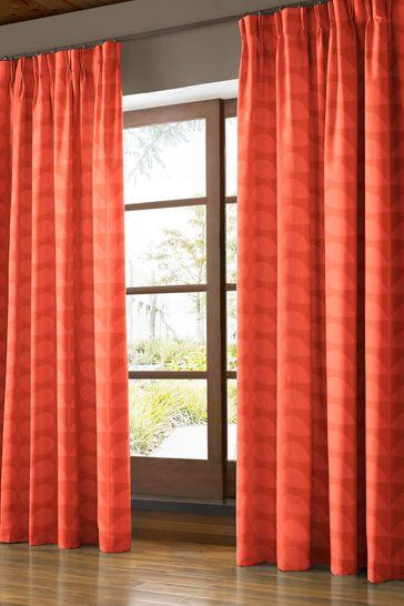 Jacquard Stem Tomato Red Curtains by Orla Kiely