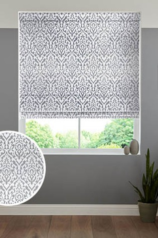 Tamsin Silver Made To Measure Roman Blind