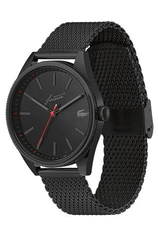 Lacoste Black Mesh Heritage Watch