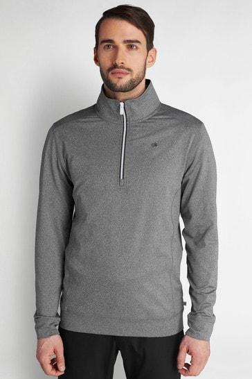 Calvin Klein Golf Silver Orbit Half Zip Jumper