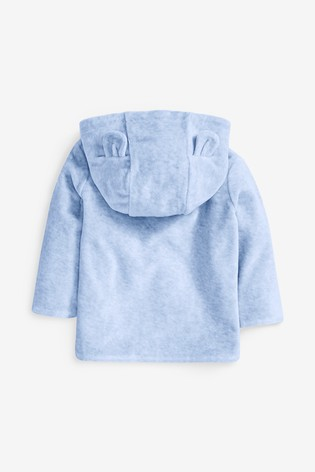 Blue Velour Jacket (0mths-2yrs)