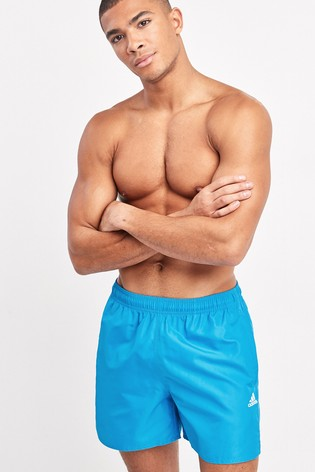 adidas Blue Solid Swim Shorts