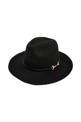 Monsoon Black Bella Fedora Hat