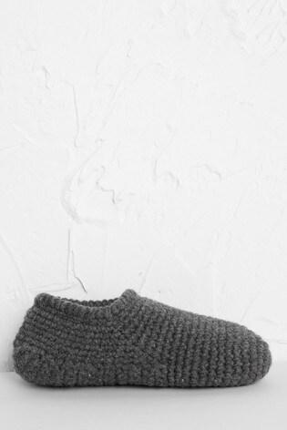 Seasalt Cornwall Grey Quiet Room Slipper Socks