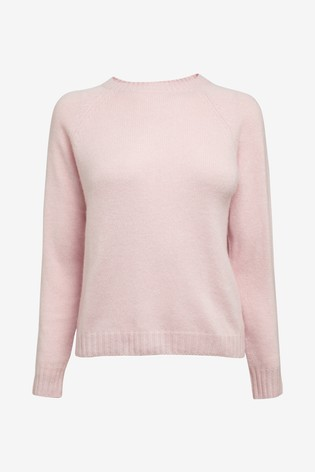 Pure Collection Pink Cashmere Lofty Sweatshirt