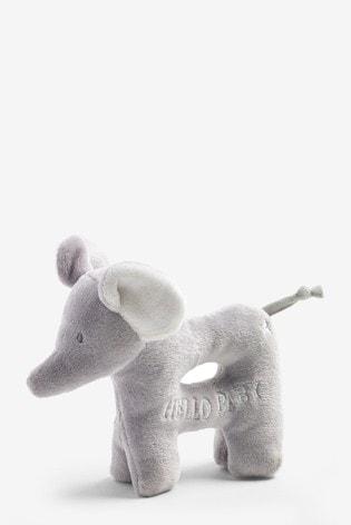 Unisex Elephant Baby Rattle